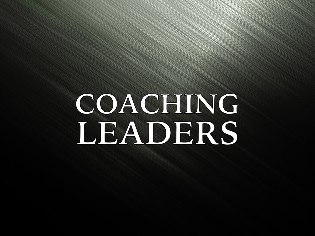 Coaching Small Group Leaders