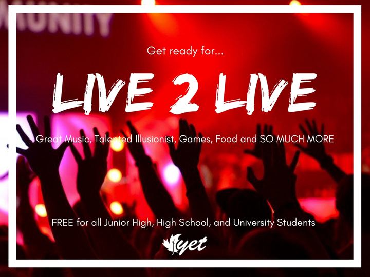 LIVE 2 LIVE makes its way across Canada!
