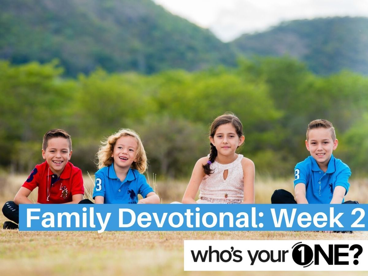 WYO? Family Devo: Week 2, The Woman at the Well