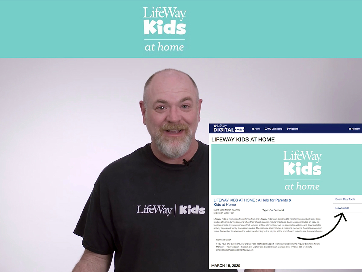 LifeWay offers 'LifeWay Kids at Home,' a free temporary digital resource