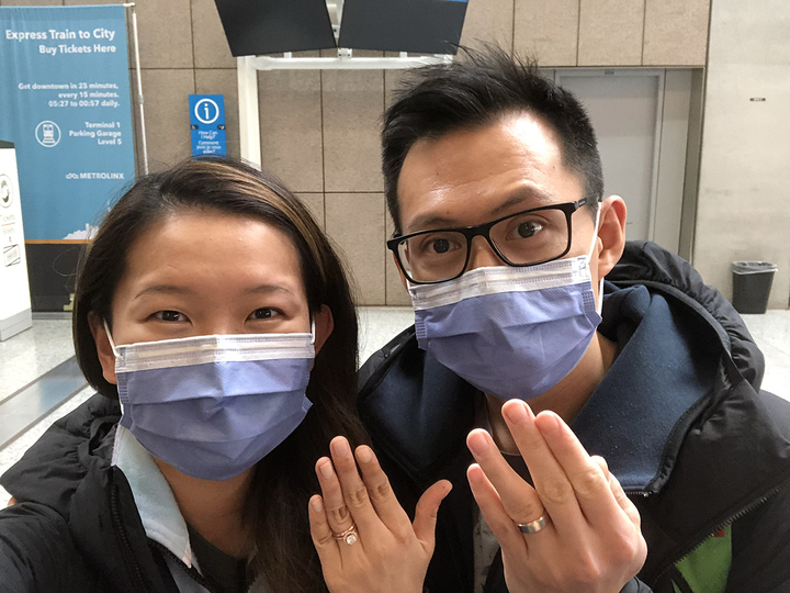 Newly-married physicians assist with pandemic response